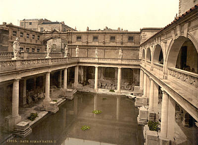 England Roman Baths Poster by Granger