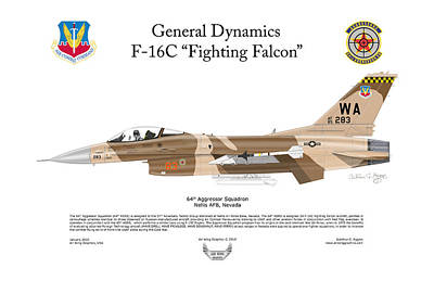 F-16c Fighting Falcon Poster by Arthur Eggers