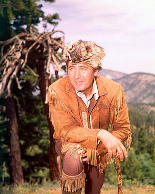 Fess Parker In Daniel Boone  Poster by Silver Screen