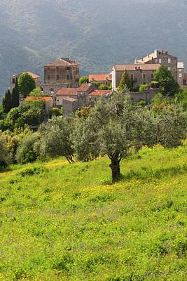 France, Corsica, La Alta Rocca Poster by Walter Bibikow