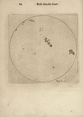 Galileo's Observation Of Sunspots Poster by Library Of Congress