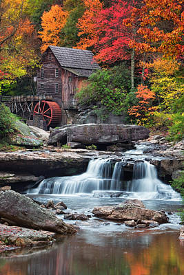 Glade Creek Grist Mill  Poster by Emmanuel Panagiotakis