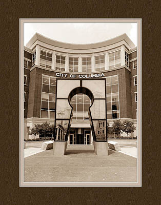 Government Offices Columbia Missouri Poster by Charles Feagans