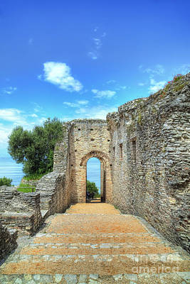 Grotto Catullus At The Lake Garda In Sirmione Poster by Regina Koch