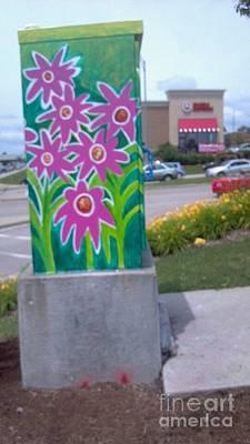 Hummingbird Traffic Signal Box Poster by Genevieve Esson