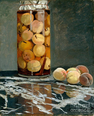 Jar Of Peaches Poster by Claude Monet
