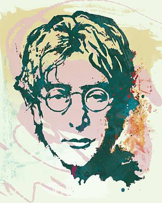 John Lennon Pop Art Sketch Poster Poster by Kim Wang