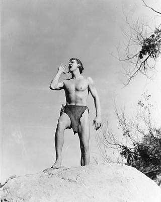 Johnny Weissmuller In Tarzan And His Mate  Poster by Silver Screen