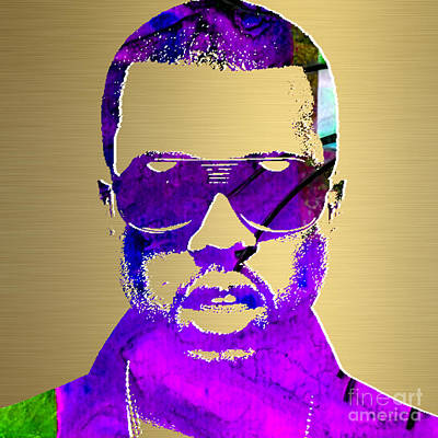Kanye West Gold Series Poster by Marvin Blaine