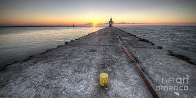 Kewaunee Pierhead Lighthouse Poster by Twenty Two North Photography