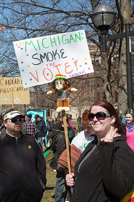 Legalisation Of Marijuana Rally Poster by Jim West
