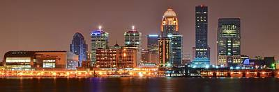 Louisville Panoramic View Poster by Frozen in Time Fine Art Photography