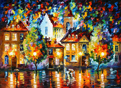 Luxemburg Night Poster by Leonid Afremov
