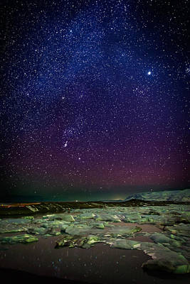 Milky Way Galaxy With Aurora Borealis Poster by Panoramic Images