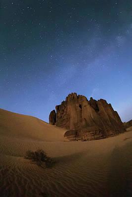 Milky Way Over The Sahara Desert Poster by Babak Tafreshi