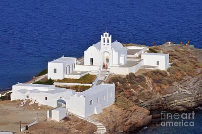 Monastery In Sifnos Island Poster by George Atsametakis