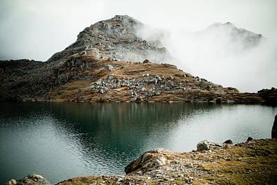 Mountain Lake Gosaikunda Himalayas Poster by Raimond Klavins