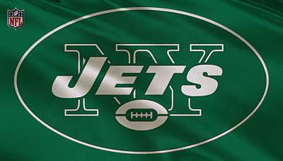 New York Jets Uniform Poster by Joe Hamilton