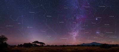 Night Sky Over Mount Kilimanjaro Poster by Babak Tafreshi
