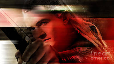 Orlando Bloom Poster by Marvin Blaine