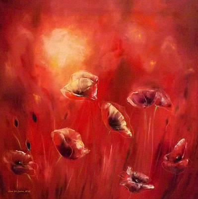 Poppies Poster by Gina De Gorna