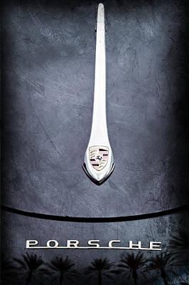 Porsche 1600 Super Hood Emblem Poster by Jill Reger
