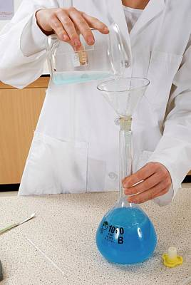 Preparing Copper Sulphate Solution Poster by Trevor Clifford Photography