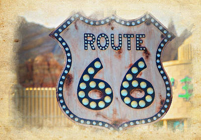Route 66 Poster by Ricky Barnard