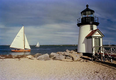 Sailing Across Brant Point Nantucket Poster by WEB Shooter