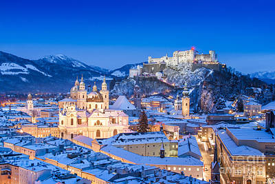 Salzburg In Winter Poster by JR Photography