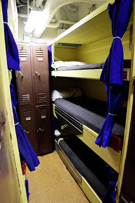 Seaman Lockers And Bunks Aboard Uss Poster by Stocktrek Images