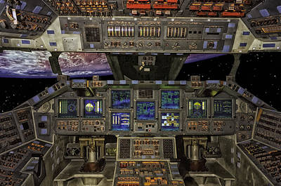 Space Shuttle Cockpit Poster by Mountain Dreams