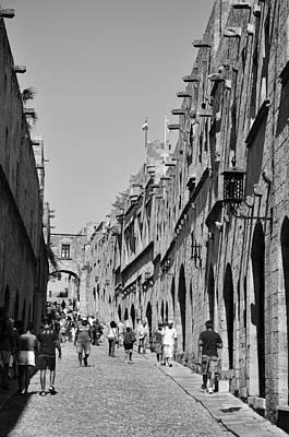 Street Of Knights Poster by George Atsametakis