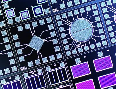 Surface Of Microchip Poster by Alfred Pasieka