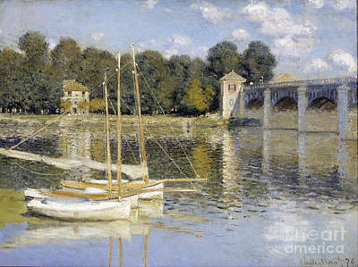 The Argenteuil Bridge Poster by Claude Monet