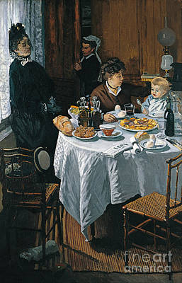 The Luncheon Poster by Claude Monet