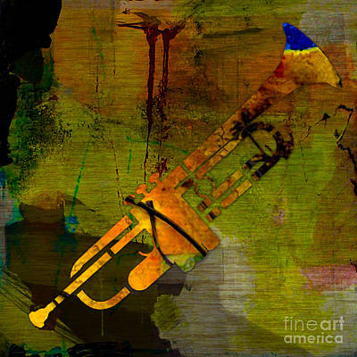 Trumpet Poster by Marvin Blaine