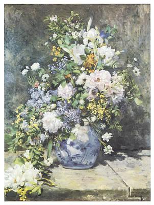 Vase Of Flowers Poster by Pierre-Auguste Renoir