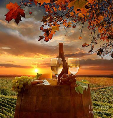 Vine Landscape In Chianti Italy Poster by Tomas Marek
