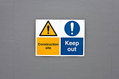 Warning Sign Poster by Tom Gowanlock