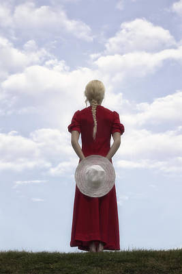 Woman In Red Poster by Joana Kruse