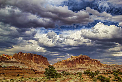 Capitol Reef National  Park Cathedral Valley Poster by Mark Smith