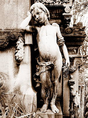 Pere-lachais Cemetery In Paris France Poster by Richard Rosenshein