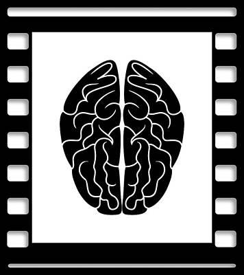 35mm Brain Poster by Daniel Hagerman