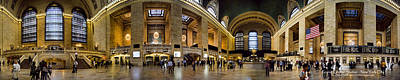 360 Panorama Of Grand Central Terminal Poster by David Smith