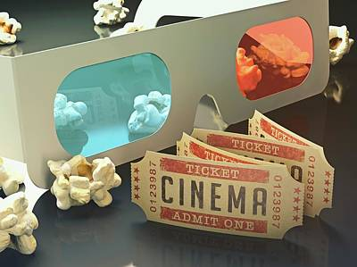 3d Glasses Poster by Ktsdesign