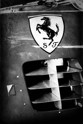 1956 Ferrari 500 Tr Testa Rossa Side Emblem Poster by Jill Reger