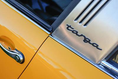 1973 Porsche 911 E Targa Emblem Poster by Jill Reger