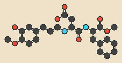 Advantame Sugar Substitute Molecule Poster by Molekuul