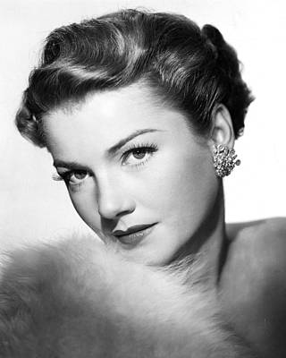 Anne Baxter Poster by Silver Screen